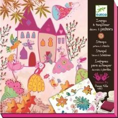 Princess Stamps, Patterns and Stencil Kit by Papo. $24.29. Designed in France by Peggy Nille. Includes 10 stamps, 1 ink pad, 3 stencil sheets and 10 scenes to be filled. For ages 6 to 10 years. Princesses, fairies, flowers and houses feature fanciful, modern design. Create beautiful scenes and the stories to go with them with this stamp and stencil kit. Create a fanciful land of fairies and princesses with this complete stamp and stencil kit. Begin with the 10 pages of etherea...