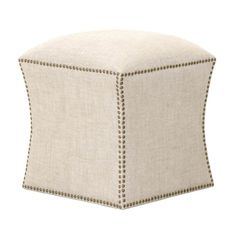 Star International York Square Footstool Bisque - 6435.BIS-GLD