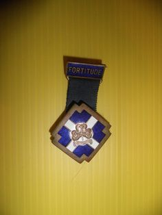 A rare 1964 Girl Guide Badge of Fortitude Medal in excellent condition
