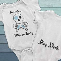 Wipe me Booty funny baby diaper shirt, Pirate Baby bodysuit, Baby Boy Onesie, Pirate clothes for boys, funny baby clothes, cute baby onesie for boys