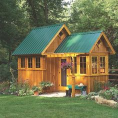 plans for this cute little garden shed....or maybe a little mini cabin?