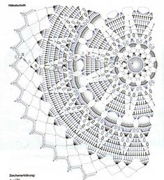Diy Crafts - Crochet lace diagram charts granny squares Ideas - Her Crochet Crochet Doily Diagram, Crochet Mandala Pattern, Crochet Circles, Crochet Chart, Crochet Doilies, Crochet Patterns, Crochet Wool, Crochet Blocks, Thread Crochet