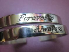 Always  Forever  bracelets Sold as a pair with by ImpressedArt