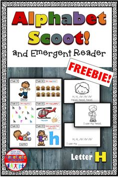 Alphabet Task Cards and Emergent Reader Letter H Teaching The Alphabet, Alphabet Activities, Educational Activities, Kinesthetic Learning, Fun Learning, Teachers Pay Teachers Freebies, Love Teacher, Letter Formation, Emergent Readers