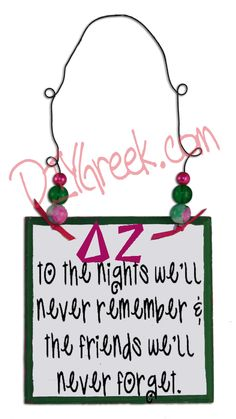 A great little example using the Greek Letter stencils. We have the art work for the saying available to our customers, sized to work on the sign from our Project Kit. #dee zee, #delta zeta #sorority, #greek, #little sister, #diygreek, #big sister, #stencil,