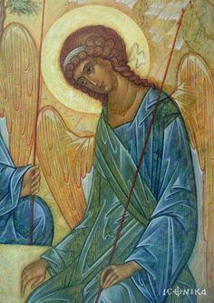 Byzantine Icons, Byzantine Art, Religious Icons, Religious Art, Order Of Angels, Religious Paintings, Christian Religions, Archangel Michael, Art Icon