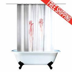 Shower curtain Funny shower curtain Funny by TheBlackHatDesign