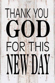 Thank You God For This New Day Inspirational wood sign canvas banner photo clip frame birthday, christmas, easter, baptism,