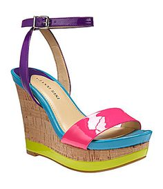 Gianni Bini Camelia Wedge Sandals / these r so colorful, but I love! With white shorts! Cute Shoes, Me Too Shoes, Vacation Style, Gianni Bini, Crazy Shoes, Shoe Collection, Summer Shoes, Dillards, Wedge Sandals