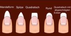 Form spielt eine sehr wichtige Rolle beim Nagel Art. Die Länge und die Formen der Nägel werden die Schönheit der Nägeldesign sehr gross beeinflussen. Dann werden wir heute etwas über das Feilen der Nägel erzählen. Man formt die Nägel mit der Feile. Wie...