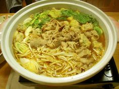 Miso based soup hot pot with sliced pork and pork meat balls コクうま味噌鍋 Nabe Recipe, Soup Beans, Food C, Pork Meat, Yummy Food, Tasty, Yummy Recipes, Chinese Cabbage, Hot Pot