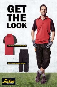 Are you ready for spring/summer 2015? Get the perfect outfit for work with this A.V.S. Polo Shirt and Rip-Stop Pirate Trousers. The fabric keeps you cool during the heat so you can stay focused on your work. The pirate trousers offer protection with Cordura® reinforcements and our KneeGuard™ positioning system. Learn more about how to keep it cool in the heat at http://www.snickersworkwear.com/design-and-features/dress-for-the-weather/turn-down-the-heat/.