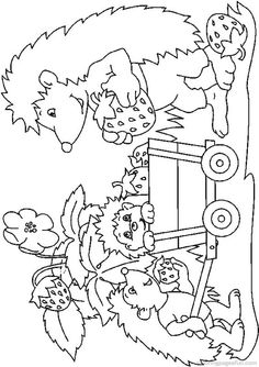 Hedgehogs Coloring Pages 20