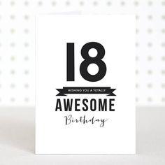 Awesome 18 Birthday Card