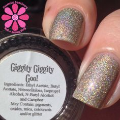 Girly Bits Giggity Giggity Goo Swatch - Cosmetic Sanctuary; Brand: Girly Bits, Name: Giggity Giggity Goo, Collection: Fall Season Premiere,  Color: Nude, Shade: Light, Finish: Metallic, Type: Linear Holographic