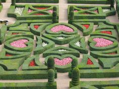 The Alice in Wonderland-like formal gardens of the Chateau Villandry in the Loire Valley.