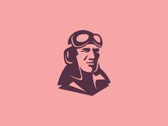 Appilot by Unipen Logo Character, Character Design, Logo Inspiration, Logo Branding, Branding Design, Logo Luxury, Logo Shapes, Logo Face, Man Logo