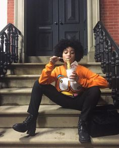 no worry, no hurry Black Girl Magic, Black Girls, Pretty People, Beautiful People, Afro, Curly Hair Styles, Natural Hair Styles, Amandla Stenberg, Loose Hairstyles