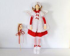 tilda Garden Flowers Fairy handmade interior doll por OksanaGryts