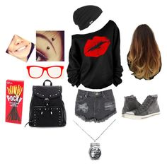 """""""Hipster Version of Me"""" by katkitty-111 ❤ liked on Polyvore featuring Glamorous, Converse and RVCA"""