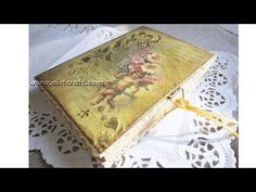 Decoupage journal cover tutorial - DIY. Vintage style journal / notebook / notepad. Shabby chic. - YouTube