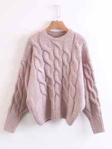 Store Cable Knit Drop Shoulder Sweater on-line. SheIn gives Cable Knit Drop Shoulder Sweater & extra to suit your modern wants. Knitwear Fashion, Knit Fashion, Sweater Fashion, Sweater Shop, Cable Knit Sweaters, Vogue Knitting, Sweater Knitting Patterns, Knitting Ideas, Looks Style