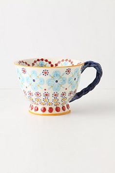 Teacup by Anthropologie.  I would love one of these!