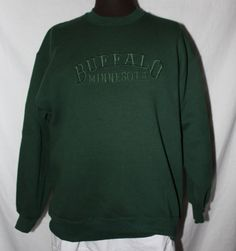 Vintage Sweatshirt Buffalo Minnesota Dark by ilovevintagestuff