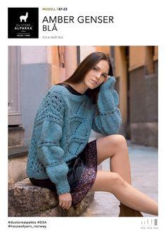 Amber Genser Blå - Køb billigt her Stores, One Color, Jumpers, Tweed, Amber, Pullover, Knitting, Sweaters, Dresses