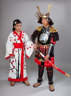The prom attire was inspired by both ancient traditional Japanese garments and modern-day prom outfits.  Each piece of clothing was either made entirely of duct tape or a combination of duct tape, paper, cloth, and cardboard.