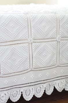 ROMANTIC. Vintage French large bedspread. Large by Passesimple