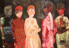 """Saatchi Art Artist Jacqueline van der Plaat; Painting, """"Dressed in Red"""" #art"""