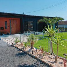 Modern Landscaping, Backyard Landscaping, Garden Design, House Design, California Style, Succulents Garden, Flower Beds, Garden Furniture, Cactus Plants