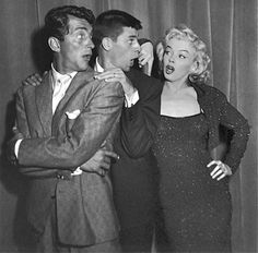 Photo: Dean Martin, Jerry Lewis and Marilyn Monroe having some fun at the Redbook Awards, February 1953 <3