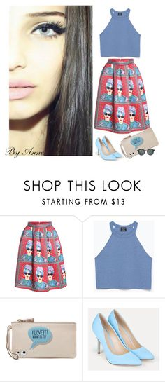 """""""Great weekend Polyfriends ❤️"""" by anne-977 ❤ liked on Polyvore featuring Zara, Anya Hindmarch, JustFab and Ray-Ban"""