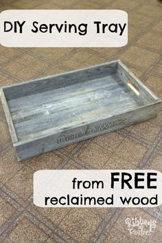Easy woodworking project that repurposes old fence wood into a functional serving tray