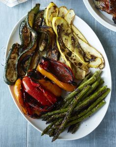 GRILLED SUMMER VEG AND ROMESCO SAUCE * #myplate #grill