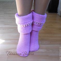 Купить Тень. Носки вязаные, шерстяные, домашняя обувь. Подарок ручной работы. - носки вязаные