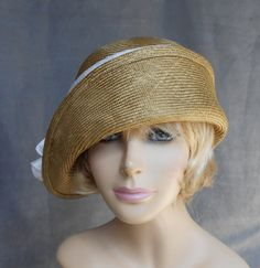Gabby Cloche flapper hat womens parasisal straw by LuminataCo, $145.00