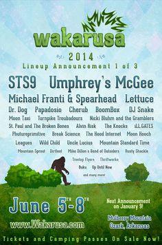 Wakarusa Music Festival 2014 Lineup   June 5-8