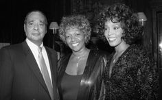A family affair: Whitney Houston with her parents, John and Cissy. Photo by Richard Corkery of the New York Daily News