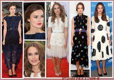 Keira Knightley de Michael Van der Han, Chanel, Stella McCartney y Dolce & Gabbana promcionando Laggies y The Imitation Game en el TIFF 2014