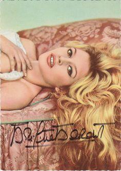 Ufa -Farb -Karte -Brigitte Bardot signiert Nr.CK -259   eBay