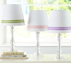 pottery barn kids pink dot lamp shade - Google Search