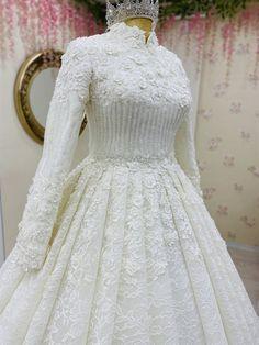 Muslimah Wedding Dress, Muslim Wedding Dresses, Bridal Dresses, Crystal Wedding Dresses, Dream Wedding Dresses, Wedding Gowns, White Gown Dress, Hijab Evening Dress, Weeding Dress