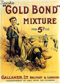 Another great old pipe tobacco advertising image from yesteryear.
