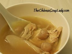 Soup Name: Chicken and Dried Longan Soup Traditional Chinese Name: 雞湯 (jitāng) Introduction: This recipe results in a sweet, clear soup that is delicious and great to drink during the winter (coole...