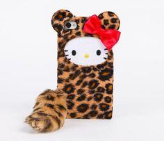 Kawaii leopard Hello Kitty iPhone 4 case!