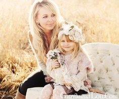 The amazing Suzette of Cozette Couture with her darling daughter, Cozette!    http://www.etsy.com/shop/CozetteCouture