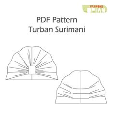 Surimani Turban - Sewing Pattern and Instructions - Sewing Patterns at Makerist Hat Patterns To Sew, Pdf Sewing Patterns, Baby Patterns, Sewing Tutorials, Turban Headband Tutorial, Turban Headbands, Headband Station, Messenger Bag Patterns, Hats For Cancer Patients